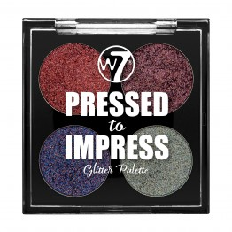 W7 Pressed to Impress Glitter Eyeshadow Palette - All The Rage