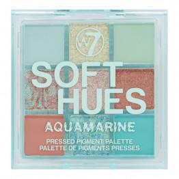 W7 Soft Hues Pressed Pigment Palette - Aquamarine