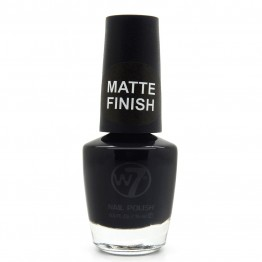 W7 Nail Polish - 55 Matte Black