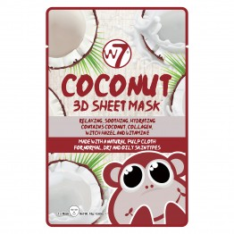 W7 3D Sheet Face Mask - Coconut