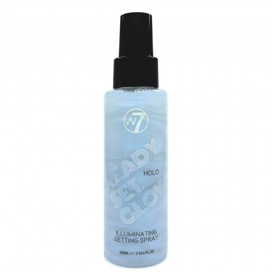 W7 Ready Set Glow Illuminating Fixing Spray - Holo