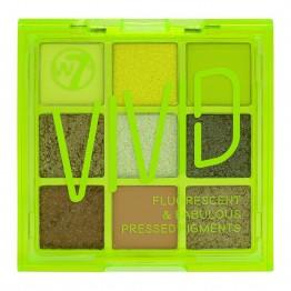 W7 Vivid Eyeshadow Palette - Glowin' Green