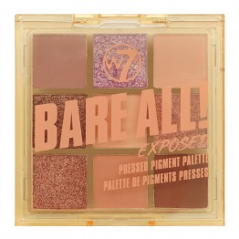 W7 Bare All Pressed Pigment Palette - Exposed