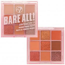 W7 Bare All Pressed Pigment Palette - Uncovered