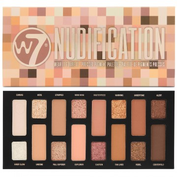 W7 Nudification Pressed Pigment Palette