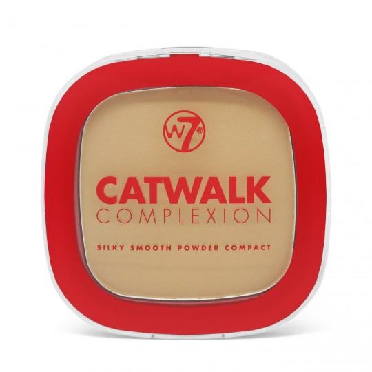 W7 Catwalk Complexion Compact Powder - Medium Βeige