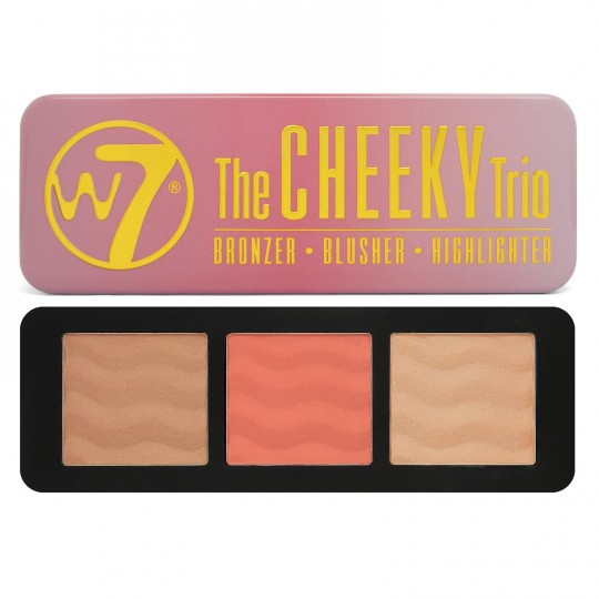 W7 The Cheeky Trio Palette - Bronzer/Blusher/Highlighter