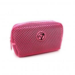 W7 Fluorescent Pink Mesh Bag