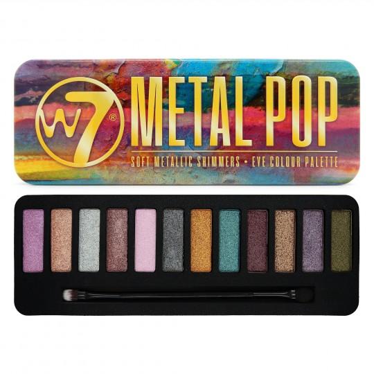 W7 Metal Pop Metallic Shimmers Eyeshadow Palette